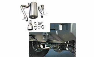 2005 Hummer H2 SUT Exhaust System by CORSA (Single Mouth) 14218